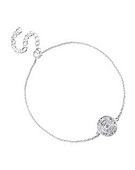 Simply Silver Micro Pave Circle Bracelet