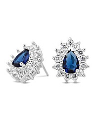 Jon Richard Cubic Zirconia Blue Earring