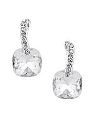 Jon Richard Clear Crystal Square Earring