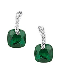 Jon Richard Green Crystal Square Earring