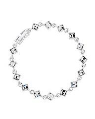 Jon Richard Crystal Silver Link Bracelet