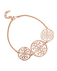 Jon Richard Rose Gold Disc Bracelet