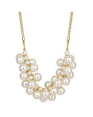 Jon Richard Pearl Cluster Necklace