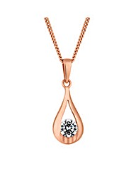 Simply Silver Rose Gold Pendant