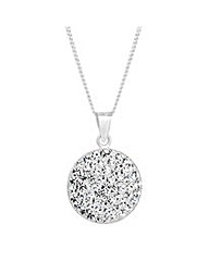 Simply Silver Pave Crystal Drop Necklace