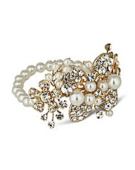 Jon Richard Pearl Flower Bracelet