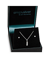 Simply Silver Triple Cubic Zirconia Set