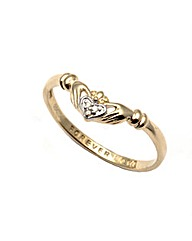 9ct Gold Forever Love Claddagh Ring