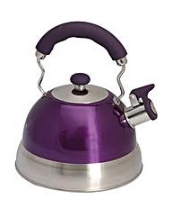 Quest 2.5L Purple Whistling Kettle