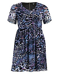 Koko Short Sleeve Animal Print Dress