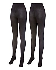 Naturally Close Pack of 2 Opaque Tights