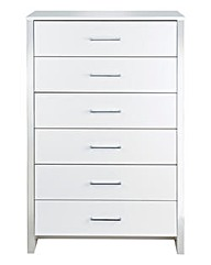 Luna 6-Drawer Tall Chest