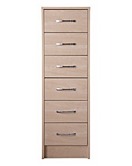 Copenhagen 6 Drawer Narrow Chest