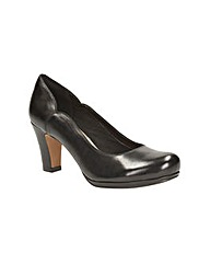 Clarks Womens Chorus Nights Wide Fit