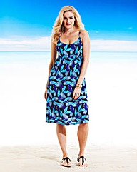 Beach To Beach Tropical Beach Dress L44
