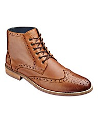 Black Label Brogue Boot Wide Fit