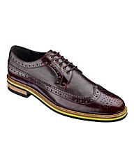 Black Label Patent Mix Brogue Wide Fit