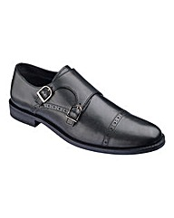 Black Label Double Strap Monk Shoe Wide
