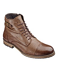 Jacamo Vintage Lace up Boot Wide Fit