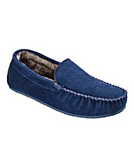 Southbay Suede Plain Moccasin Slipper