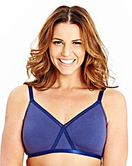 2 Pack Non Wired Burgundy/Navy Bras