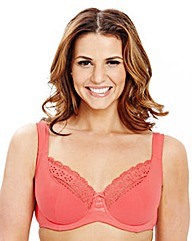 2 Pack Full Cup Wired Coral Black Bras