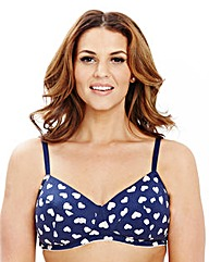 2 Pack Non Wired Padded Heart Blue Bras