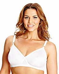Non Wired Full Cup White Claire Bra