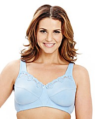 2Pack Non Wired Blue Natural Cotton Bras