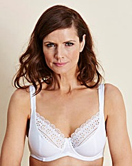 2 Pack Full Cup Wired White Bras