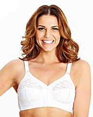 2 Pack Non Wired Midi Dotty Bras White