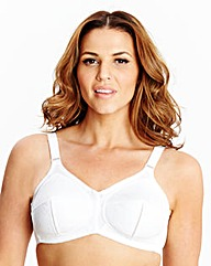2 Pack Non Wired Full Cup White Bras