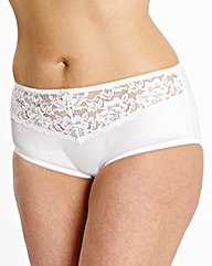 2 Pack Ella Lace Black/White Shorts