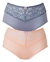 2 Pack Ella Peach/Blue Shorts