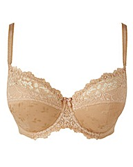 Ruby Padded Full Cup Wired Natural Bra