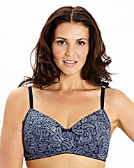 2Pack Full Cup NonWired PaisleyNavy Bras