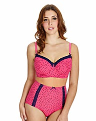 Midi Wired Pink Spot Bra