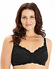 Ruby Non Wired Front Fastening Black Bra