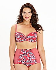 Balcony Wired Pink Print Bra