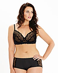 Ava Full Cup Wired Embroidered Black Bra
