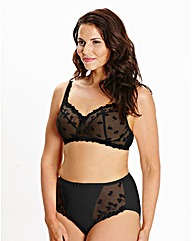 Ava Full Cup Non Wired Black Bra