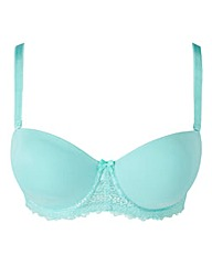 Multiway Wired Geometric Lace Mint Bra