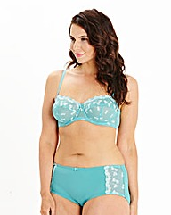Ava Multiway Wired Embroidered Teal Bra