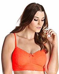 2 Pack NonWired Black/Coral Comfort Bras