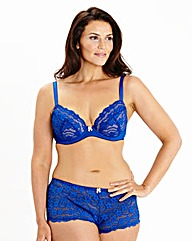 Plunge Wired Daisy Lace Cobalt Bra