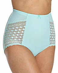 High Waist Geometric Lace Mint Briefs