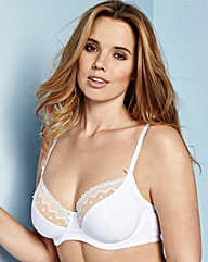 Balcony Wired Simplex White Bra