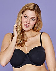 Multiway Wired Black Bra