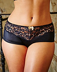 2 Pack Ella Black Gold/Red Shorts