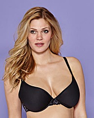 T Shirt Wired Spacer Bra Black